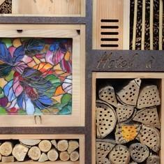 Rond en acier corten - Hôtel à insectes